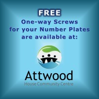 Free One- Way Number Plate Screws